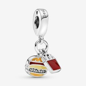 🌸Pandora Burger & Fries Best Friends Dangle Charm